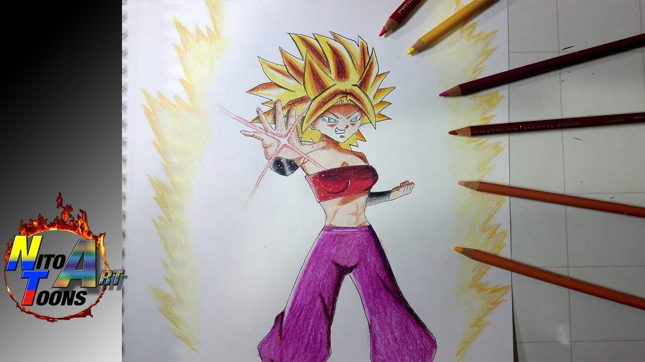 Dibujando A Caulifla Super Saiyajin Speed Drawing Caulifla Dragon Ball Super Nito Toons By Nito Toons
