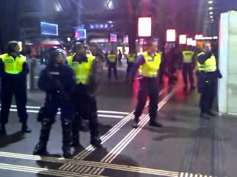Swiss Rail Police Stops Filming Violently