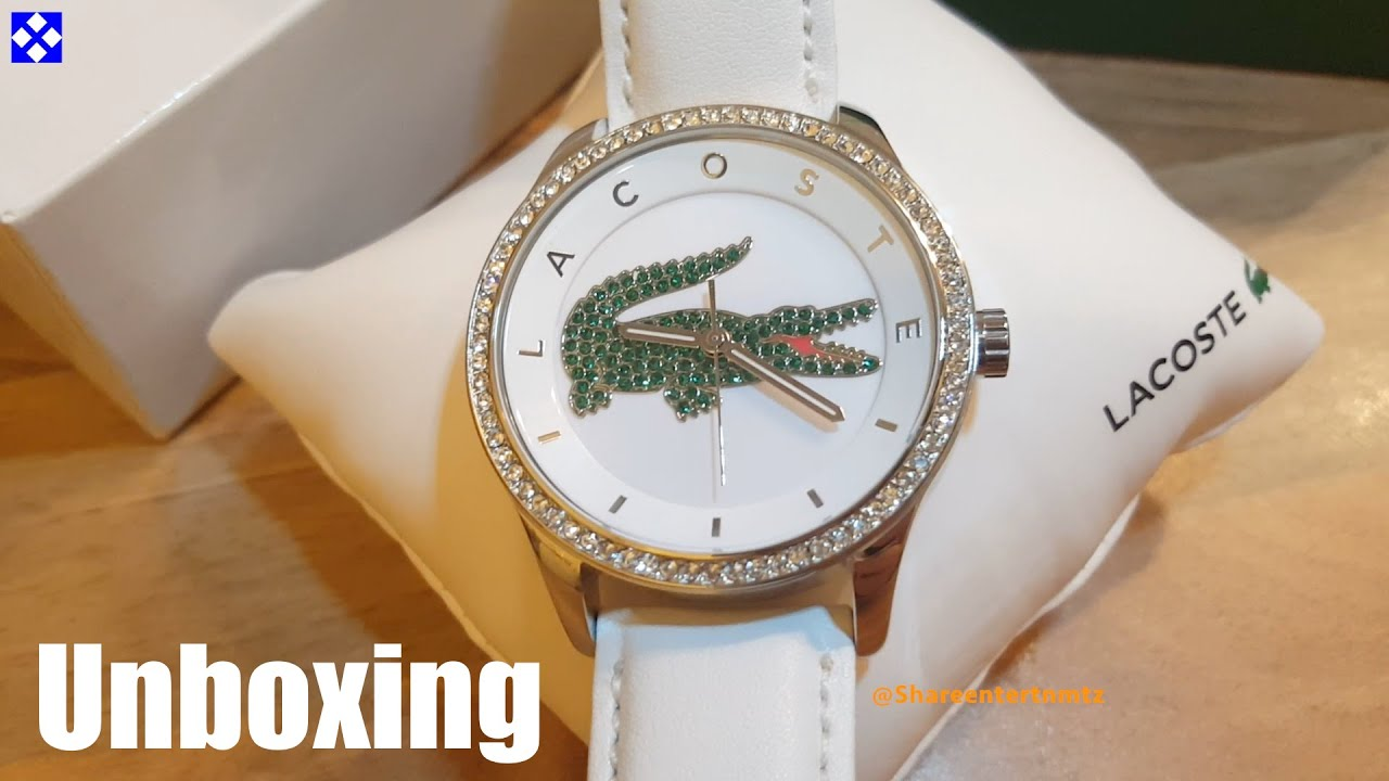 936bc3205b5 Lacoste Ladies  Victoria White   Green Strap Watch - Unboxing - YouTube