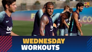 First of two Wednesday workouts