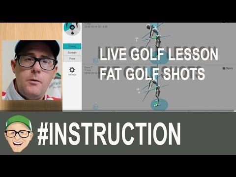 Live Golf Lesson STOP HITTING FAT GOLF SHOTS