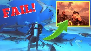 SHARK DIVE GONE WRONG!!