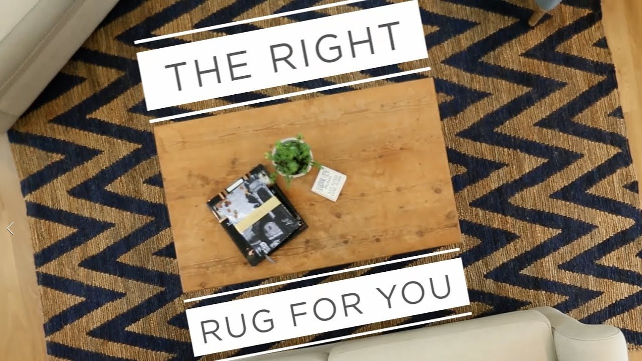 How to Pick a Rug Size - YouTube