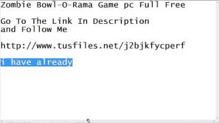 Zombie Bowl-O-Rama Pc Game Free Download Full Virsion