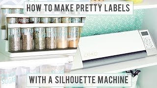 How to Make Pretty Labels with a Silhouette Machine