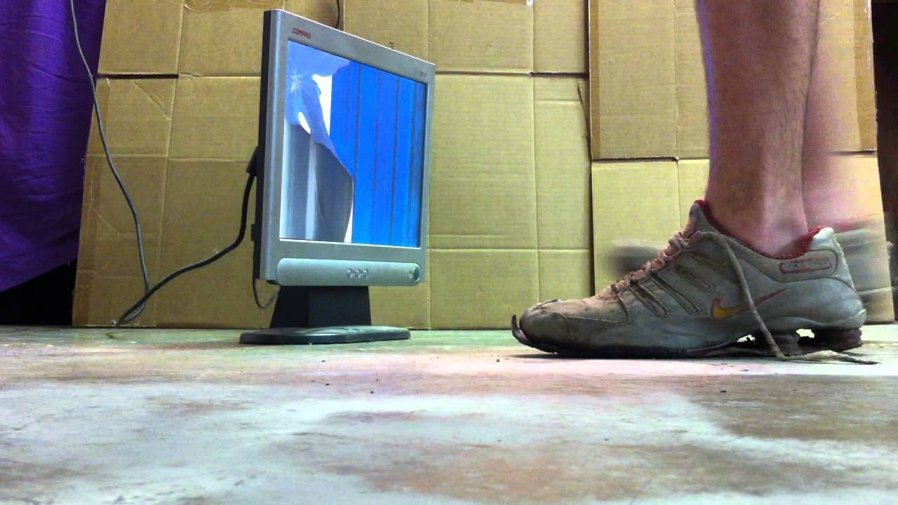 Trashed Nike Shox Destroy a Flat Panel - YouTube 3bdce6060