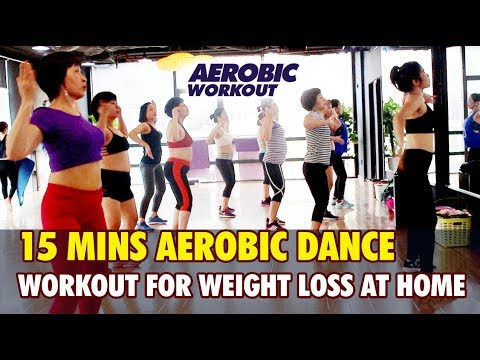 15 Mins Aerobic dance workout for weight loss at home l ...