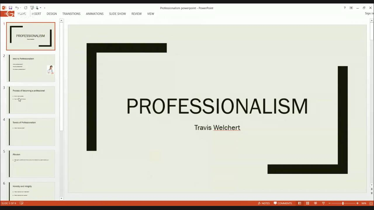professionalism powerpoint youtube