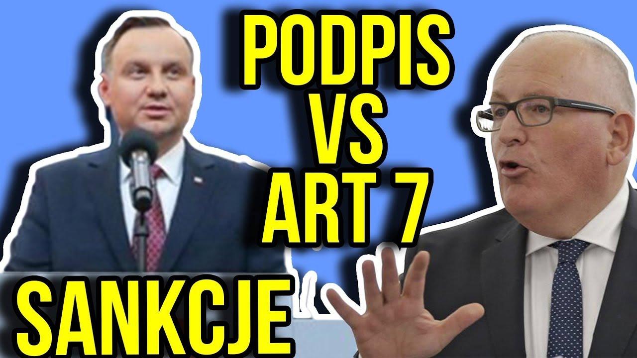 Art 7 i Sankcje dla Polski vs Prezydent Duda podpisał ustawy KRS Sąd Najwyższy [ SN ]