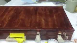 Aluminum Gun Case, Hand Painted To Look Like Wood.  Very Realistic!  Cherry Wood Case.