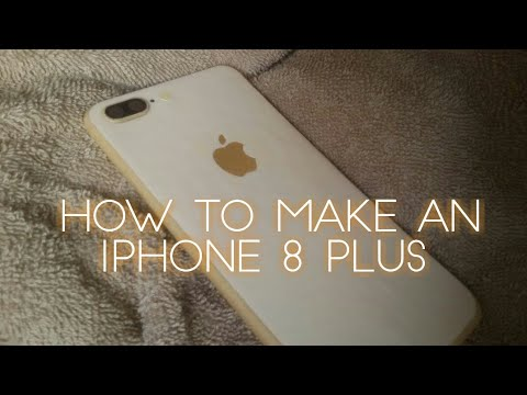 How to make an iPhone 8 Plus from cardboard