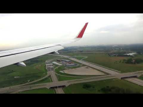 Landung In Moskau Flughafen Scheremetjewo Mit Airbus A320 | Moskau Russland