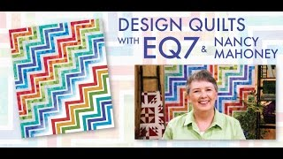 design quilts with eq7 and nancy mahoney online course trailer