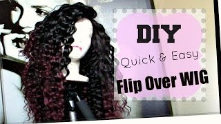 Diy No Part Flip-over Wig Fast & Easy! [hot Glue Gun Method]