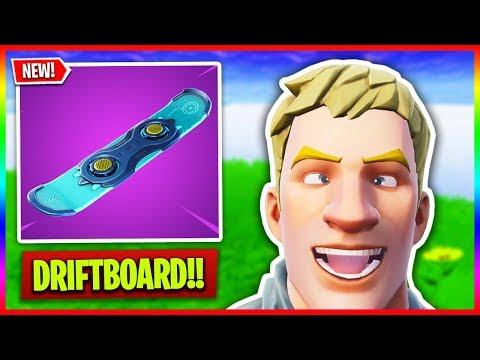 🔴 NEW Driftboard in Fortnite! 🏂 // LEGENDARY Hoverboard Item Gameplay (Fortnite LIVE Gameplay) thumbnail