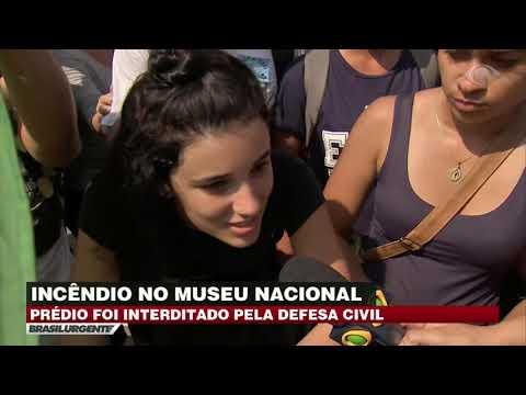 Museu Nacional é interditado após grande incêndio