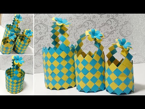 How to make paper basket at home - DIY Paper Basket - Paper Craft