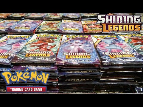 Opening 500 Pokemon Shining Legends Booster Packs!