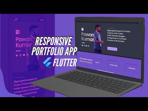 Responsive Portfolio App    Flutter Mobile, Web, & Desktop   SpeedX Code
