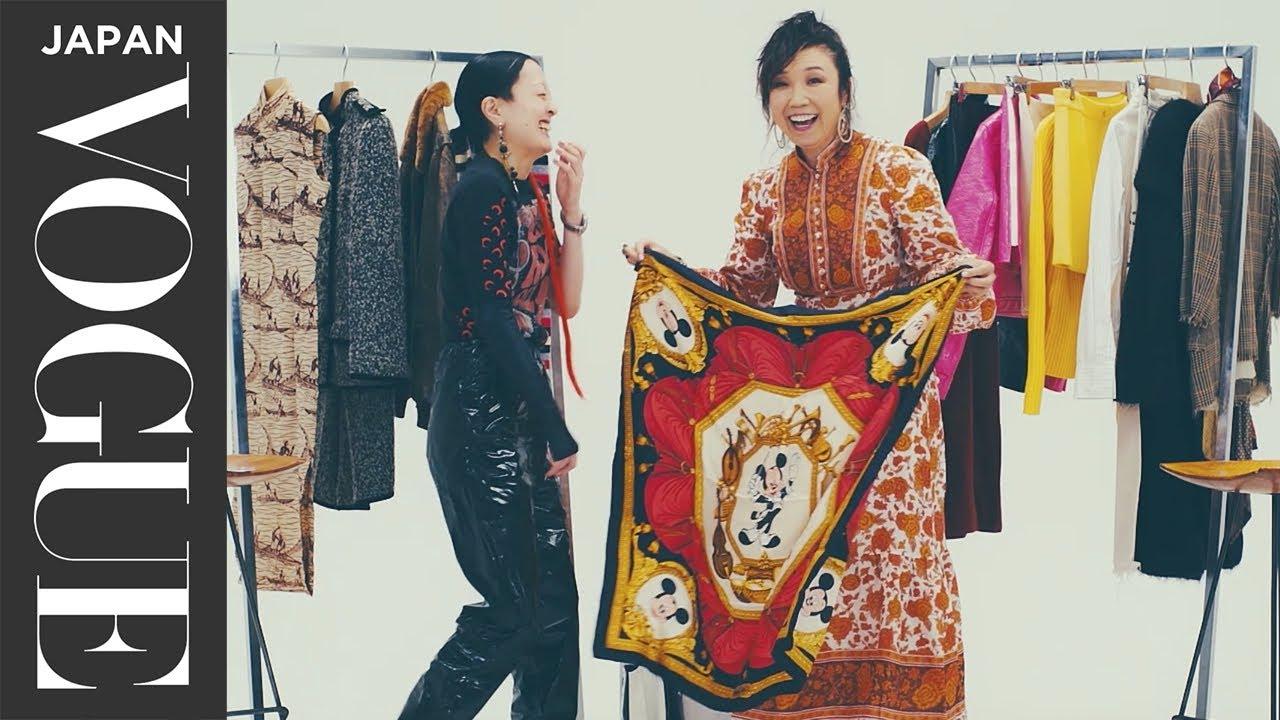 ファッション雑誌の動画出演をするユーミン,松任谷由実