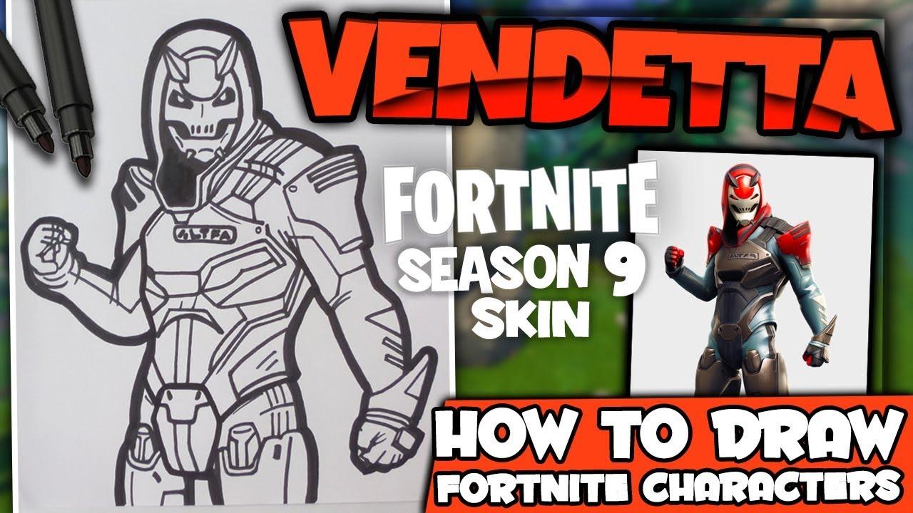 How To Draw Vendetta Fortnite Skin Season 9 Lexton Art