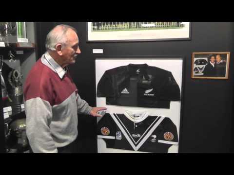NZ Rugby League Museum - Umaga & Wiki jerseys