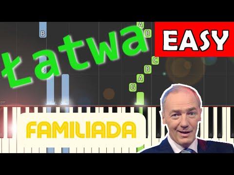 🎹 Familiada (Czołówka, motyw główny) - Piano Tutorial (łatwa wersja) 🎹
