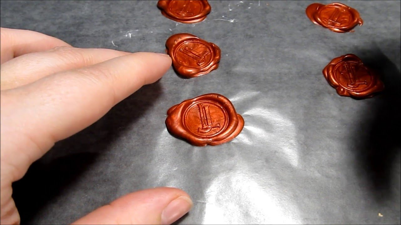 Hot Glue Wax Seals Stamps Youtube
