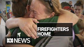 Firefighters return home after battling east coast bushfires | ABC News