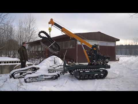 Гусеничный мини кран транспортёр Корвет 3600