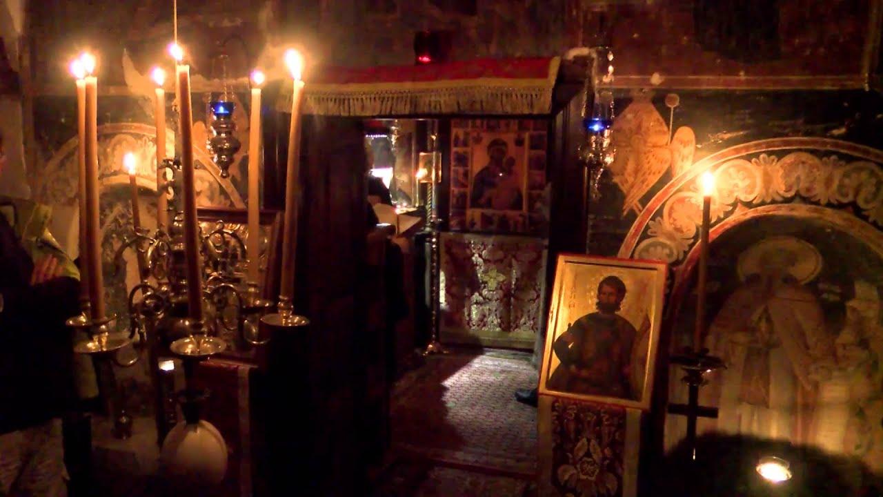 Όρθρος - Λειτουργία στο Ιερό Κάθισμα Αγίου Ευσταθίου στο Μυλοπόταμο -  YouTube