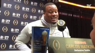Clemson defensive tackle Carlos Watkins on Alabama