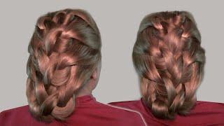 Схема Плетения Волос Узлами видео урок онлайн  (Hair braiding knots video tutorial)