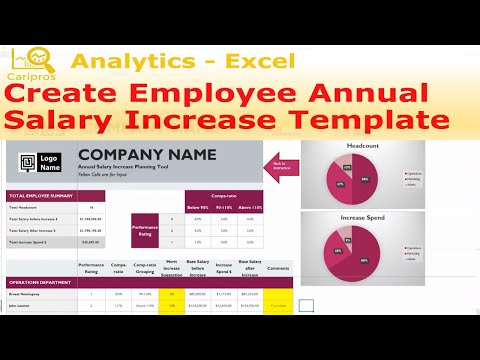 How To Create Employee Annual Salary Increase Template - Excel For HR