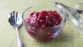 Maple Walnut Cranberry Sauce - Thanksgiving Cranberry Sauce Recipe