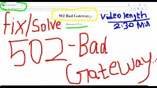 Solve/Fix 502 Bad gateway error in PHP File Running-work with Phpstorm & XAMPP Server. windows PC.