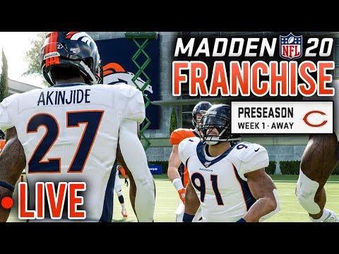 Year 5 Preseason LIVE: First Look At Jamari Akinjide - Madden 20 Broncos Franchise