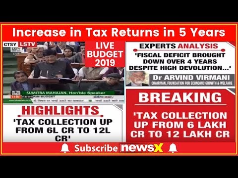 Budget 2019: Income Tax collection rose from Rs 6 lakh crore to 12 lakh crore