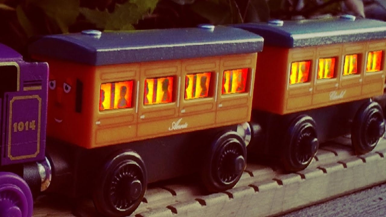Light Up Reveal Annie Clarabel 2017 Thomas Wooden Railway Review You