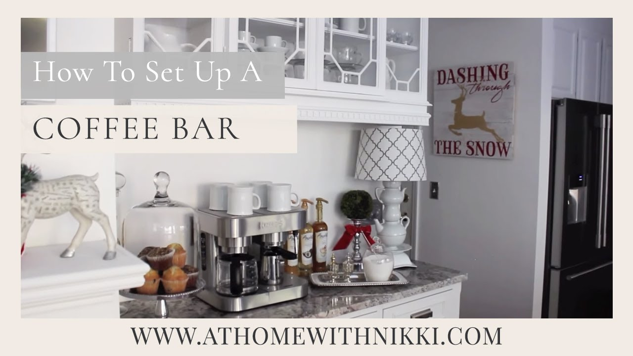 HOME ORGANIZATION: How To Set Up A Home Coffee Bar