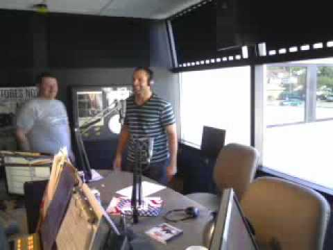 Bahe doing the Dougie! with Pat and JT on Q985 Omaha