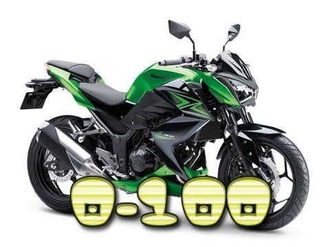Kawasaki Z300 0 100kmh 0 60mph Youtube