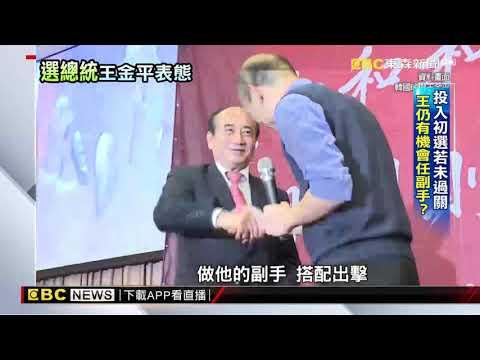 「我再辛苦也要拚」 王金平角逐總統初選