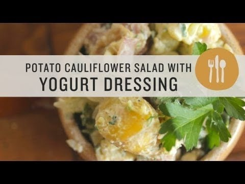 Superfoods - Potato Cauliflower Salad with Yogurt Dressing ...