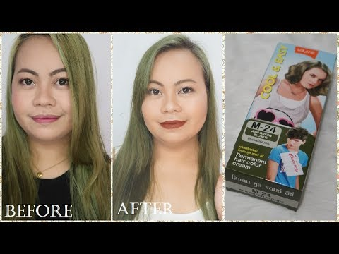 Lolane Permanent Hair Color Review Ash Green Blonde
