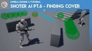 Unreal Engine 4 Tutorial - Shooter AI-Pt.6 - Suche Nach Cover