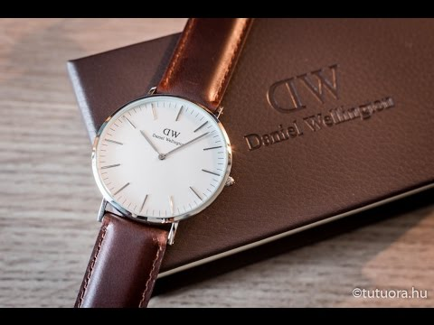 daniel wellington classic st mawes 40mm silver dw00100021 0207dw youtube. Black Bedroom Furniture Sets. Home Design Ideas