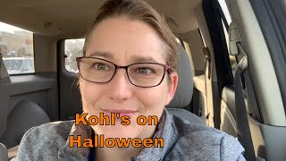 Shopping at Kohl's on Halloween!