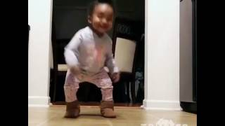 """Baby dancing to """"cash me outside how bow dat"""
