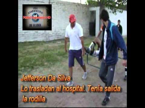 Da Silva (Pilares de San Rafael Mendoza) se retuerce de dolor
